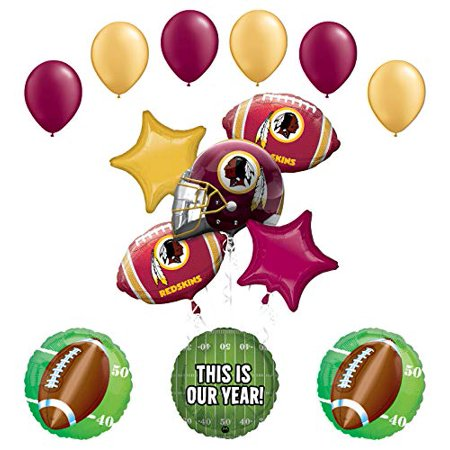 Mayflower Products Redskins Football Party Supplies This is Our Year Balloon Bouquet Decoration - Redskins Party