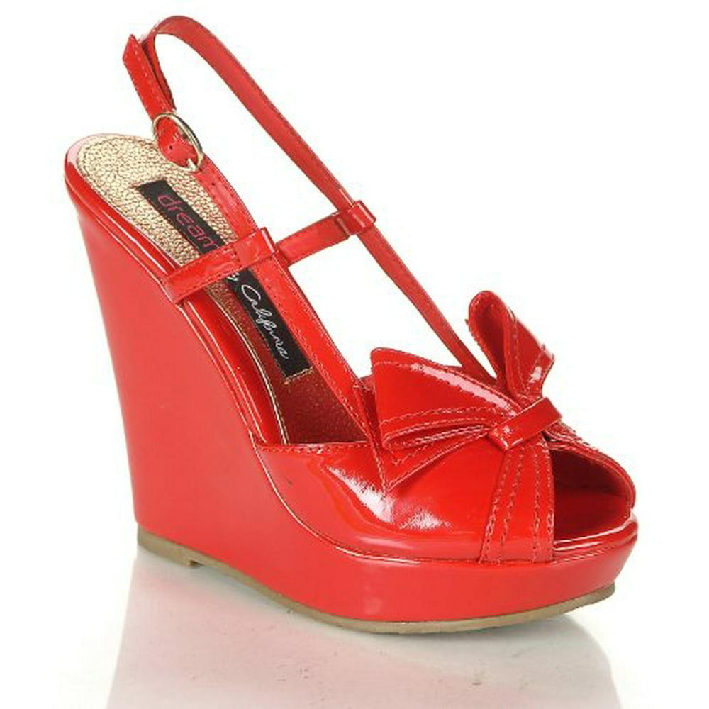 TBDress - TBDress Wedge Heel Peep Toe Platform Womens