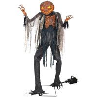 Deals on Scorched Scarecrow with Fog Machine Halloween Decoration