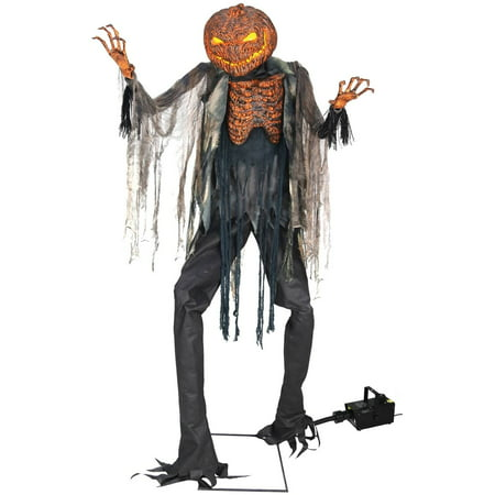 Scorched Scarecrow with Fog Machine Halloween Decoration - Halloween Outside Decoration Ideas