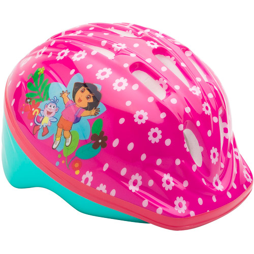 Dora the Explorer Pink Microshell Bicycle Toddler Helmet with Bonus Bicycle Bell