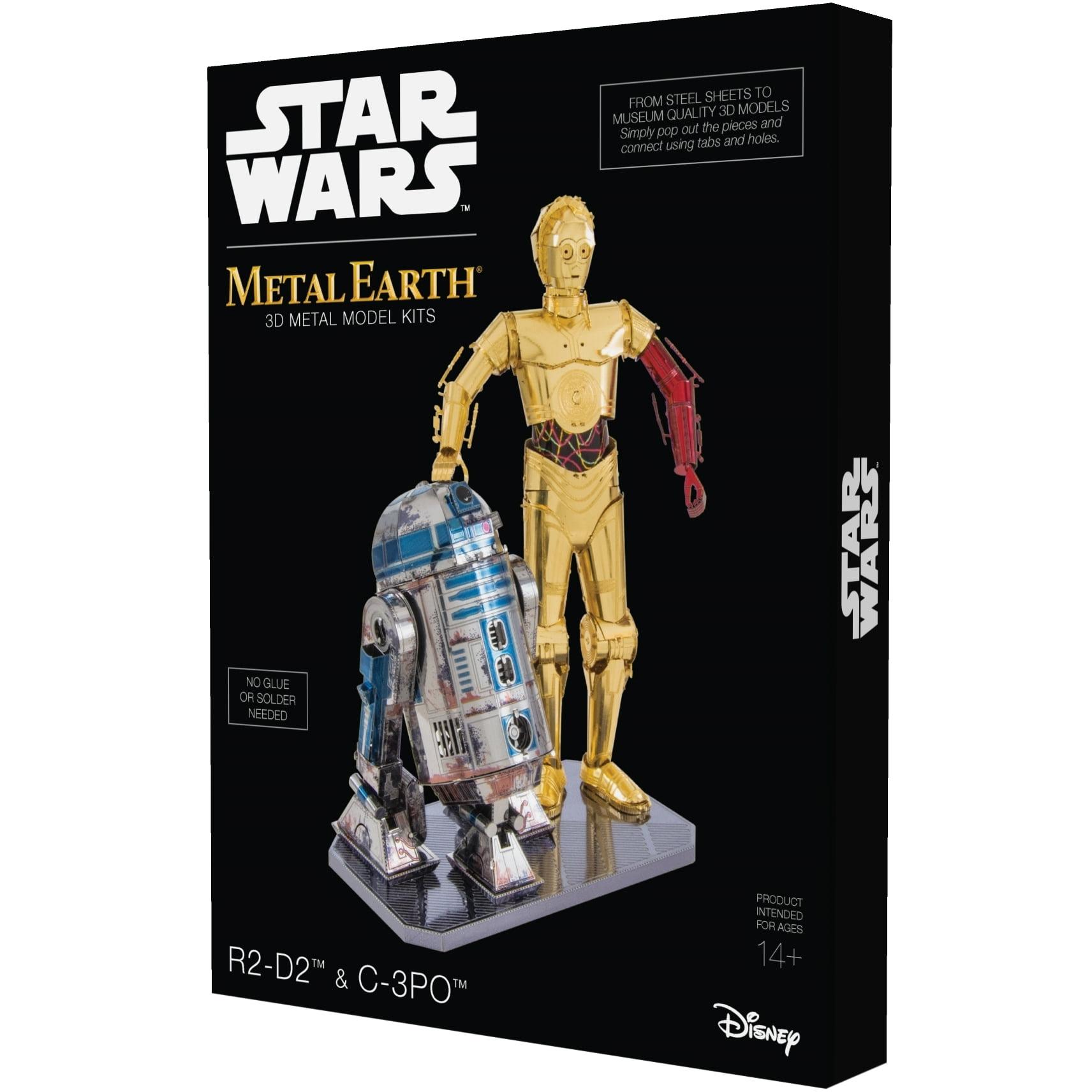 Metal Earth 3D Metal Model Kit Star Wars R2-D2 & C-3PO Box Set by Fascinations