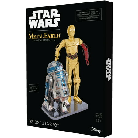 Metal Earth 3D Metal Model Kit Star Wars R2-D2 & C-3PO Box - Model Kit Set