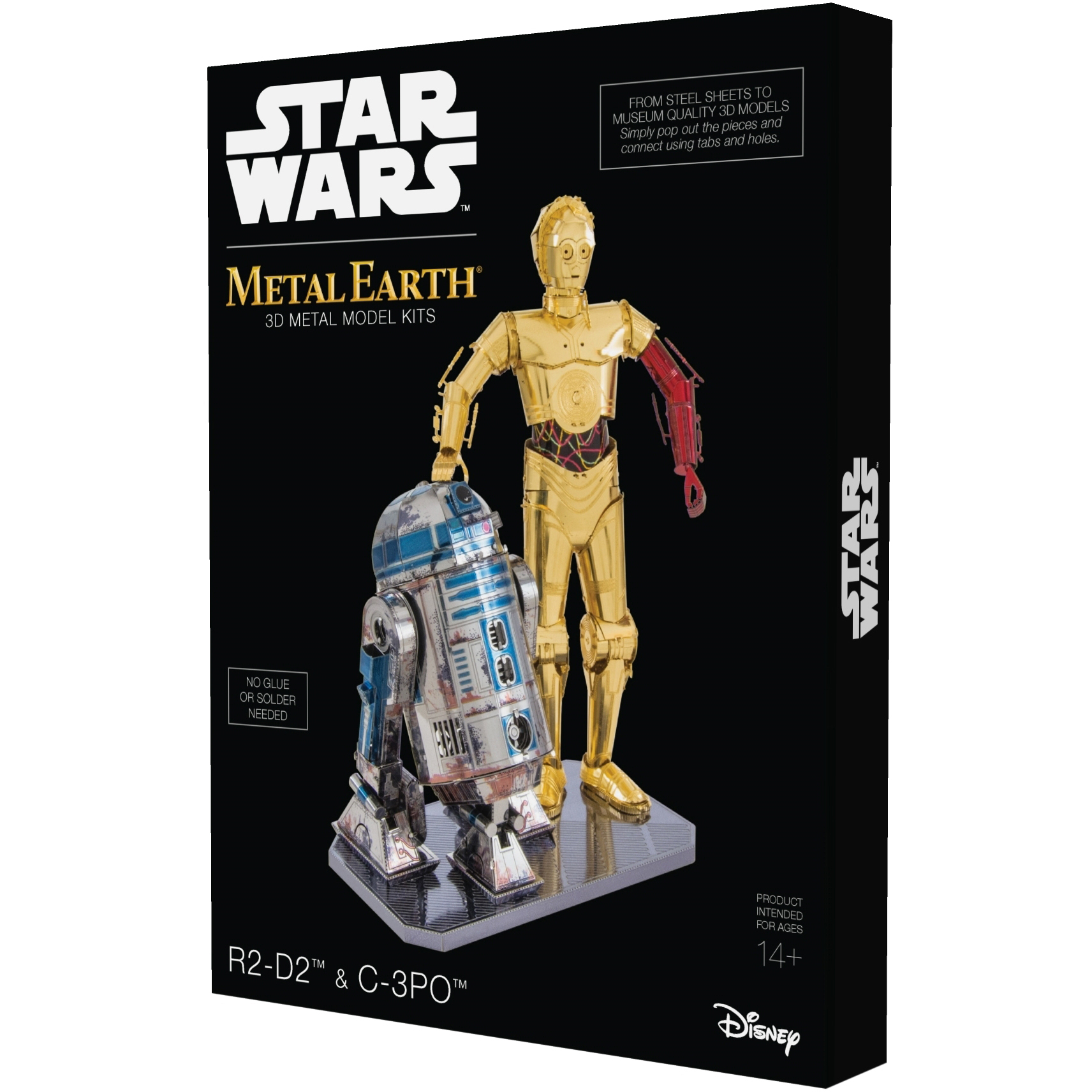 Metal Earth 3D Metal Model Kit Star Wars R2-D2 & C-3PO Box Set
