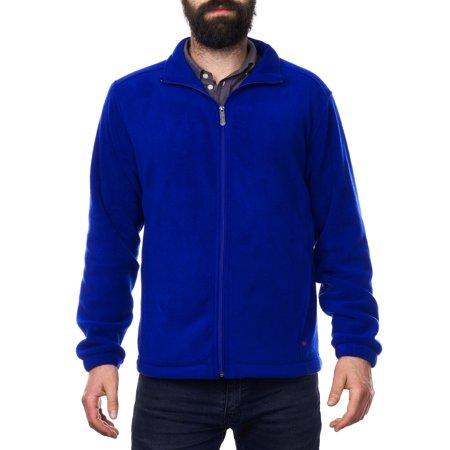 Alpine Swiss Trent Mens Full Zip Up Fleece Jacket Soft Casual Warm Zipper