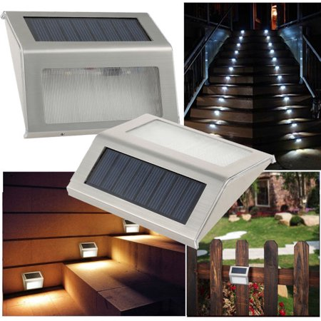Solar Stair Light Epicgadget Waterproof Outdoor Led Step Lighting 3 Ed Lights Stainless Steel For Steps Paths