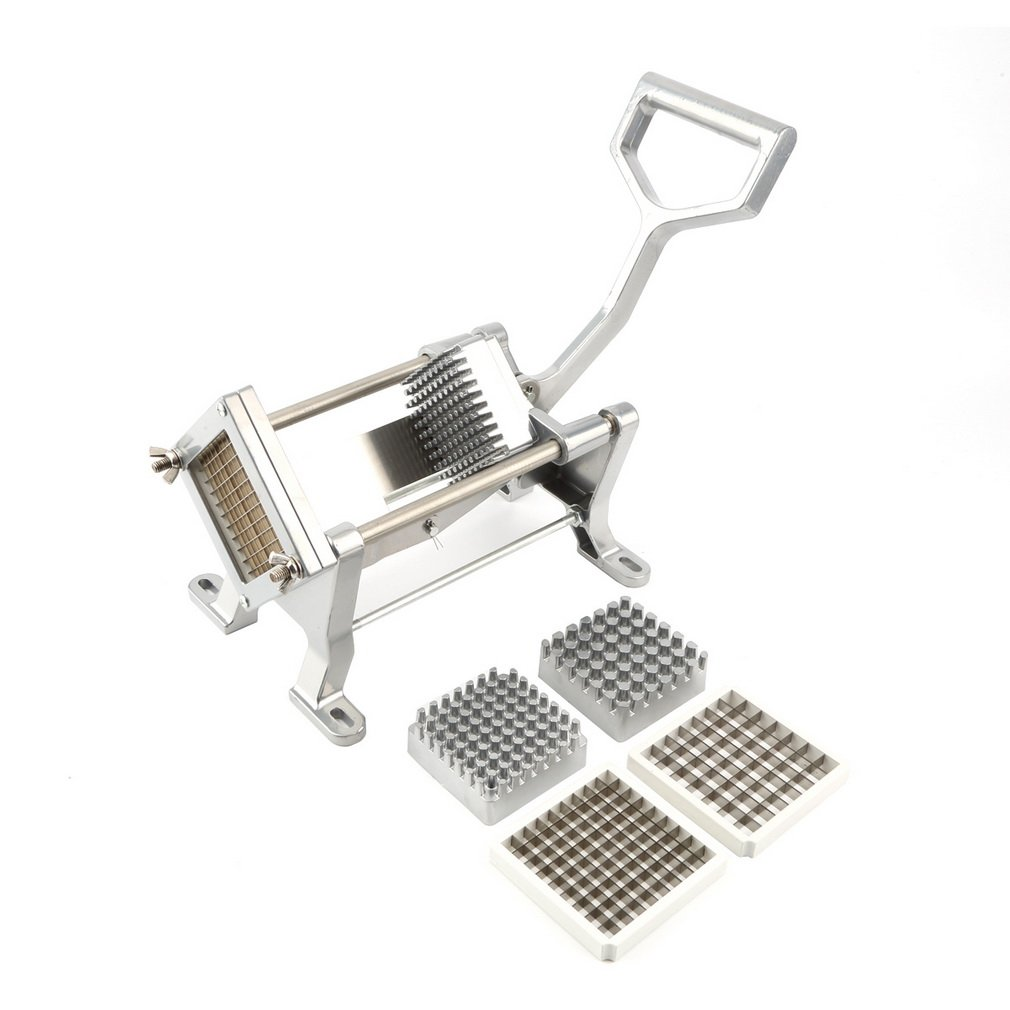 4 Different Stainless Steel Blades Potato Fruit French Fries Cutter Commercial Vegetable Slicer by