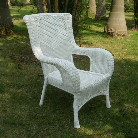 Resin Wicker Aluminum Dining Chair White Walmart Com