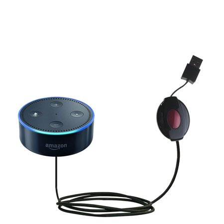 USB Power Port Ready retractable USB charge USB cable wired specifically for the Amazon Echo Dot and uses