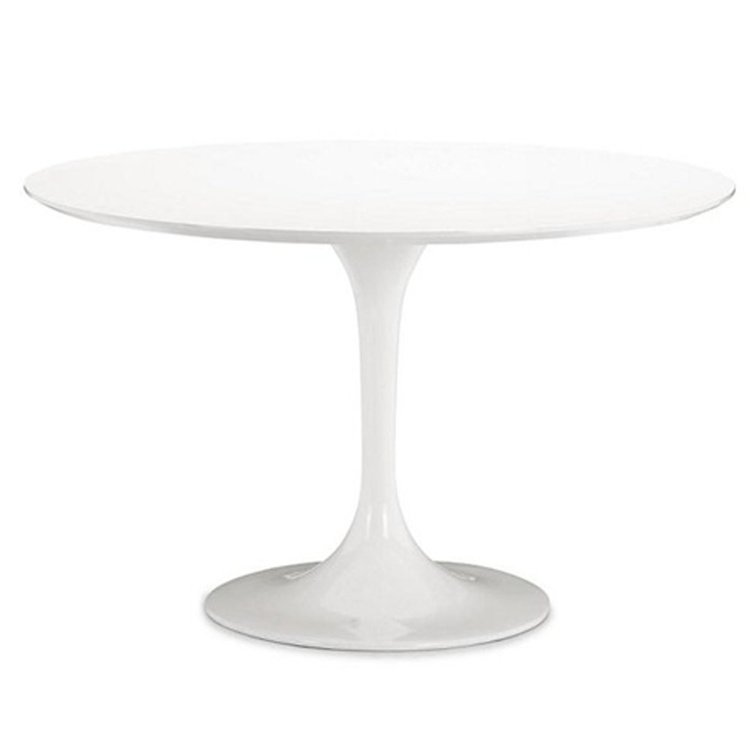 Fine Mod Imports Flower Round Dining Table in White (60 Inch) by Supplier Generic