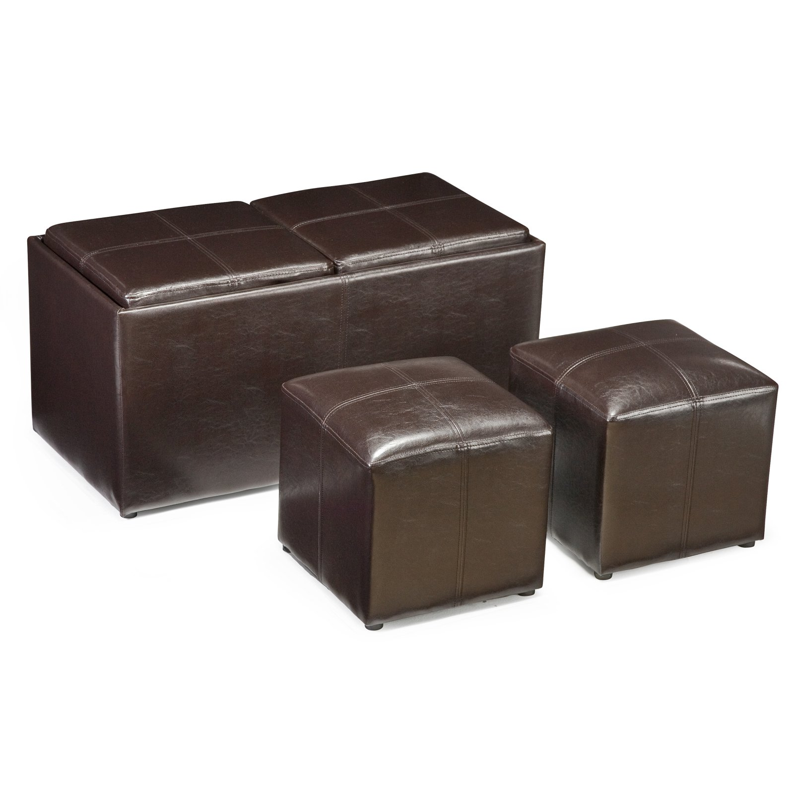 Jameson Double Storage Ottoman with Tray Tables