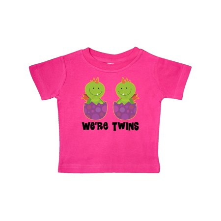 Twins Dragon Cute Boys Girls Matching Baby T-Shirt