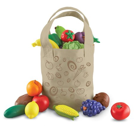 Learning Resources Fresh Picked Fruit And Veggie Tote, Ages 18 mos+