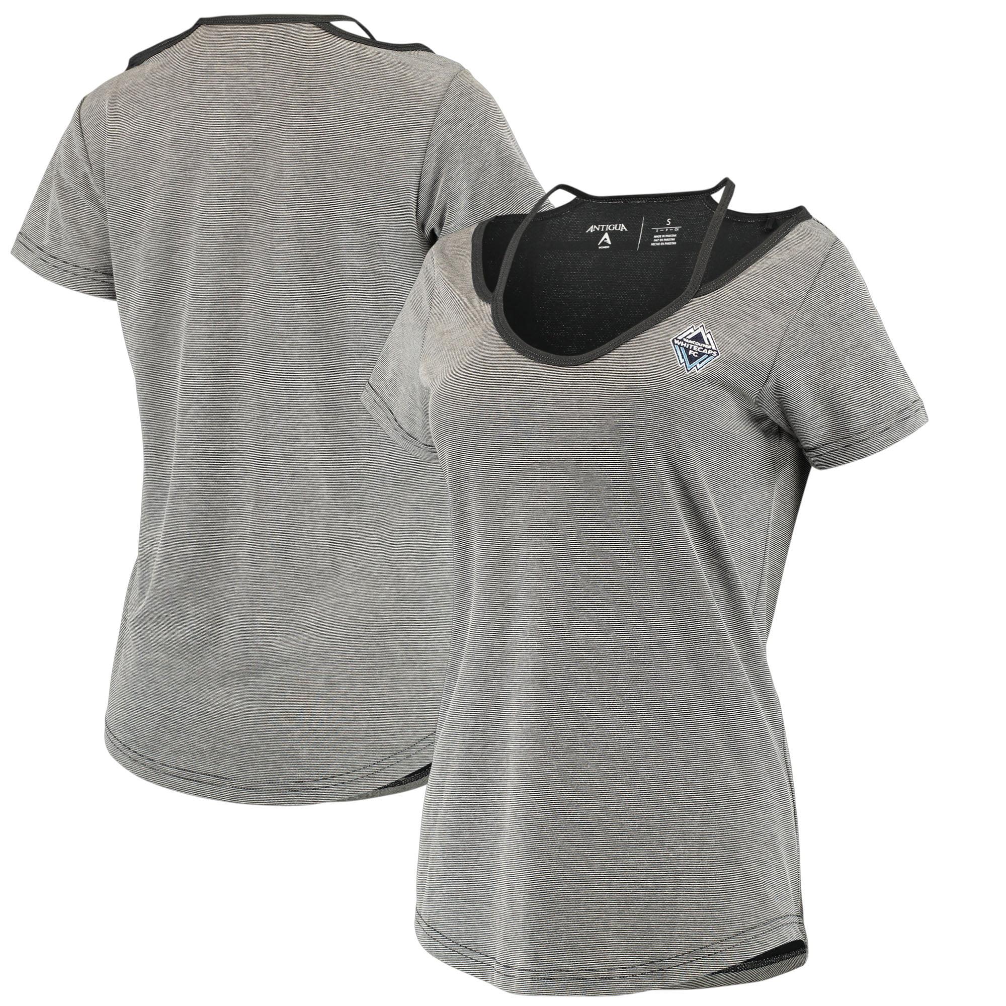 Vancouver Whitecaps FC Antigua Women's Hitter Cut Out T-Shirt - Black/Gray