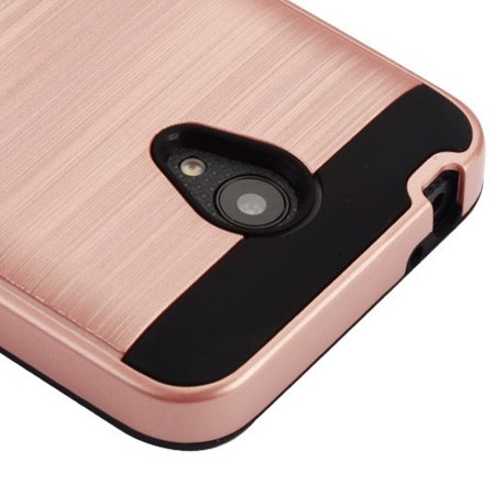 Cameo X/idealXCITE/U50/Verso Case, by Insten Dual Layer [Shock Absorbing] Hybrid Brushed Hard Plastic/Soft TPU Rubber Case Cover For Cameo X/idealXCITE/U50/Verso, Rose Gold/Black - image 1 de 4