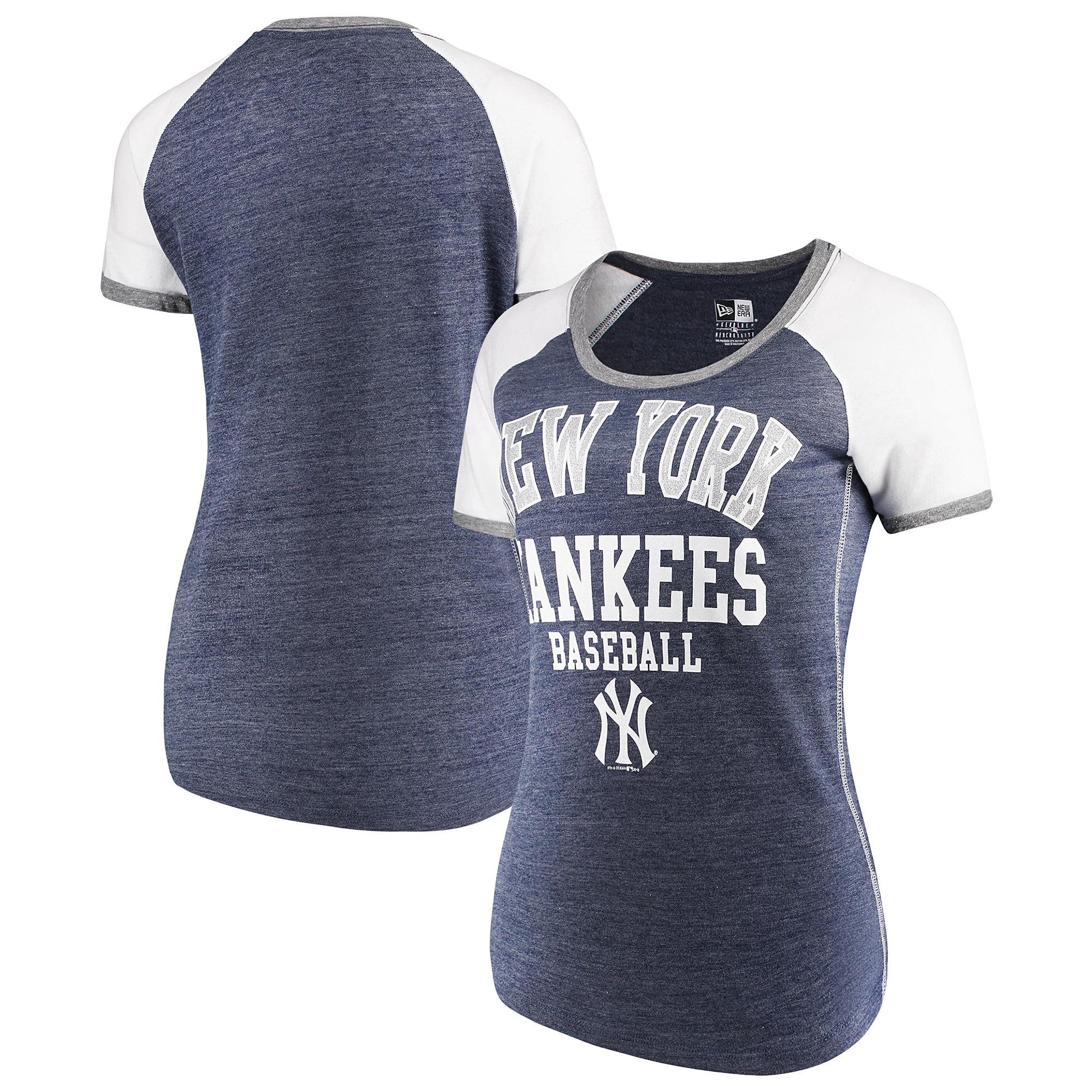 New York Yankees 5th & Ocean by New Era Women's Jersey Tri-Blend Raglan T-Shirt - Navy