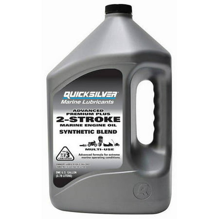 (3 Pack) Quicksilver 2-Stroke Advanced Premium Plus Synthetic Marine Engine Oil