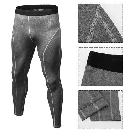d122452d0c Men Solid Color Compression Pants Tights Casual Bodybuilding Skinny Leggings  - image 2 of 6 ...