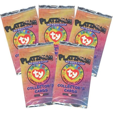TY Beanie Babies Collectors Cards (BBOC) - Platinum Membership Pack Version 2 (5 PACKS LOT)