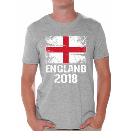 England Training Shirt (Awkward Styles England 2018 Shirt for Men English Flag Shirts English Soccer )