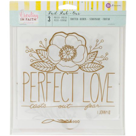 Jamie Dougherty Creating In Faith Rub Ons  3Pk  Perfect Love Rose Gold 7  To 7 75