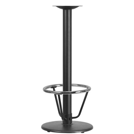 18'' Round Restaurant Table Base with 3'' Dia. Bar Height Column and Foot