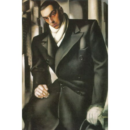 Portrait Of A Man by Tamara De Lempicka 25x19 Art Print Poster
