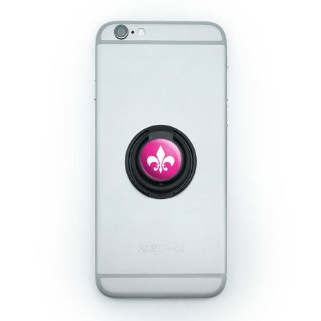 Fleur De Lis Pink Mobile Phone Ring Holder Stand