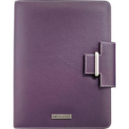Day Runner, DRN4010214, Terramo Leatherlike Vinyl Day Planner, 1 Each, Eggplant