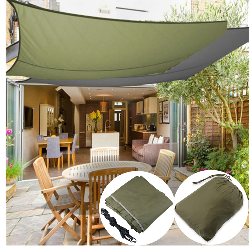 Sun Shade Sail Shade canopy Sun Shelter Patio Yard Cover UV Protected