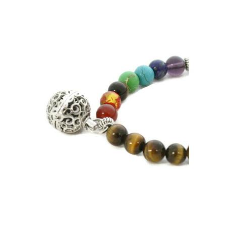 7 Chakra Essential Oil Diffuser Bracelet- Tiger's Eye Stone