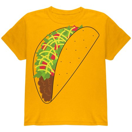 Halloween Taco Food Costume Youth T Shirt](Yellow Duck Park Halloween)