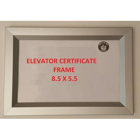 Elevator Certificate frame 8.5 x 5.5 ( Heavy Duty - Aluminum) ()