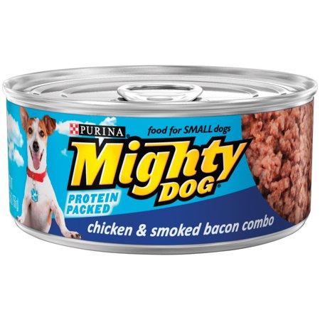 (Purina Mighty Dog Chicken & Smoked Bacon Combo Wet Dog Food, 5.5 Oz)