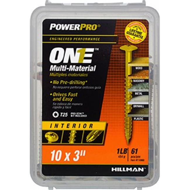 Hillman Fasteners 116968 59PK 10x3 WH INT Screw Quantity 1