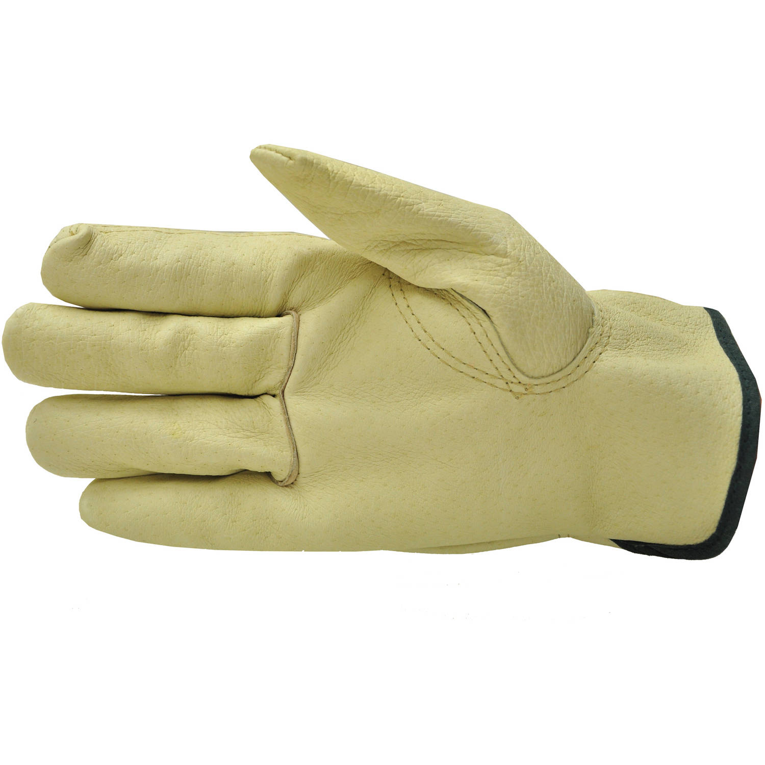 G & F Grain Pigskin Leather Work Gloves, Large, 3 Pairs by G & F
