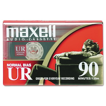 Maxell 108510 Normal Bias Audio Tapes, 90 Minutes