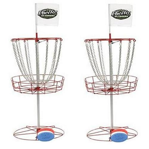 2) InSTEP Outdoor Disc Golf Goals & 6 Free Discs DG200