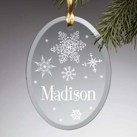 Personalized My Name Glass Ornament