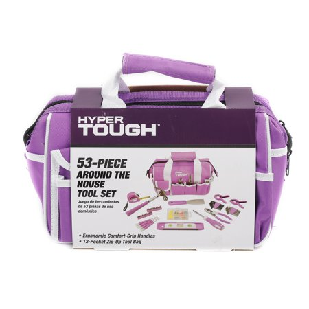 Hyper Tough 53-Piece Home Repair Tool Set, Purple