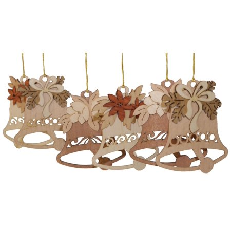 - Christmas Bells German Wooden Ornament Set of 6 Made in Germany  Decoration