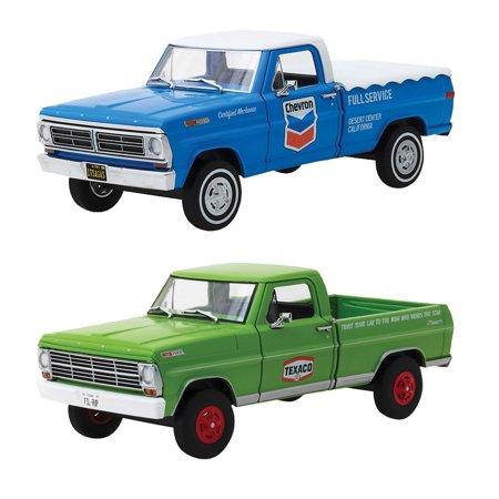 (Set) 1967 Texaco Oil & 1972 Chevron Ford F-100 1:24 Scale Die Cast (1967 Ford Pickup)