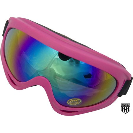 HHH Youth/Adult Goggles Motocross Motorcycle Snow/Ski Dirt Bike ATV MX Off-Road Goggles Multi-Color Lens (Adult, Kids, Boys & Girls, Youth, Men & Women ) (Pink)