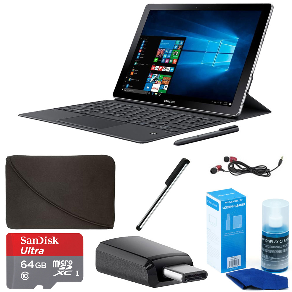"Samsung 10.6"" Galaxy Book 10 Multi-Touch 2-in-1 Notebook (SM-W620NZKAXAR) Bundle"