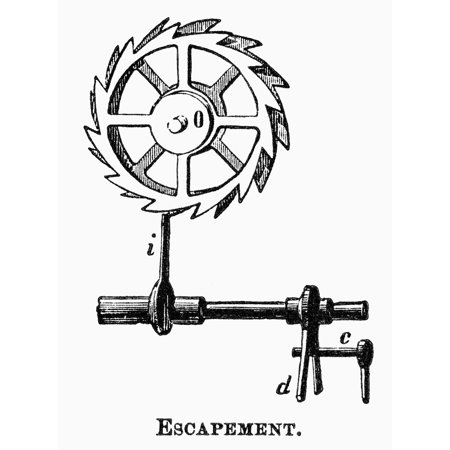 Breguet: Escapement. /Nclock Escapement Designed By French Watchmaker Abraham Louis Breguet (1747 Breguet Escapement Nclock Escapement Designed By French Watchmaker Abraham Louis Breguet (1747-1823) Line Engraving 19Th is a licensed reproduction that was printed on Premium Heavy Stock Paper which captures all of the vivid colors and details of the original. The available sizes and options for this image are listed above. This poster is ready for hanging or framing and will make a great addition to your wall decor.