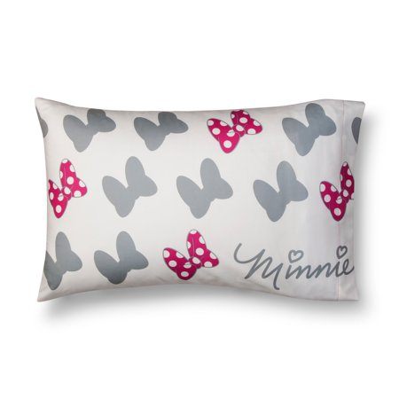 Mickey Mouse & Friends Minnie Mouse Gray & Pink Pillow Case (Standard)