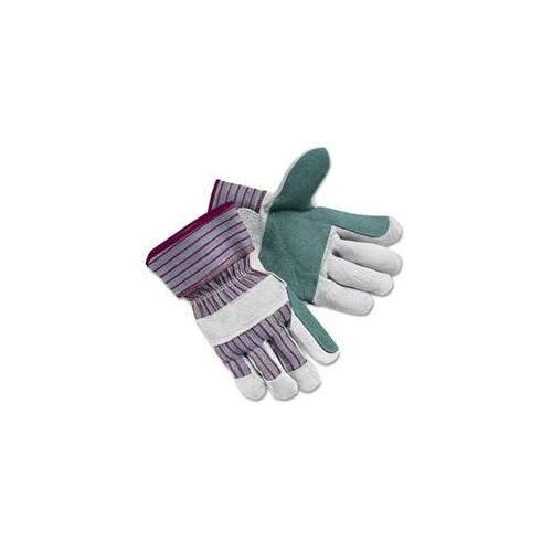 Crews 1211L Economy Leather Palm Gloves, Large, Striped