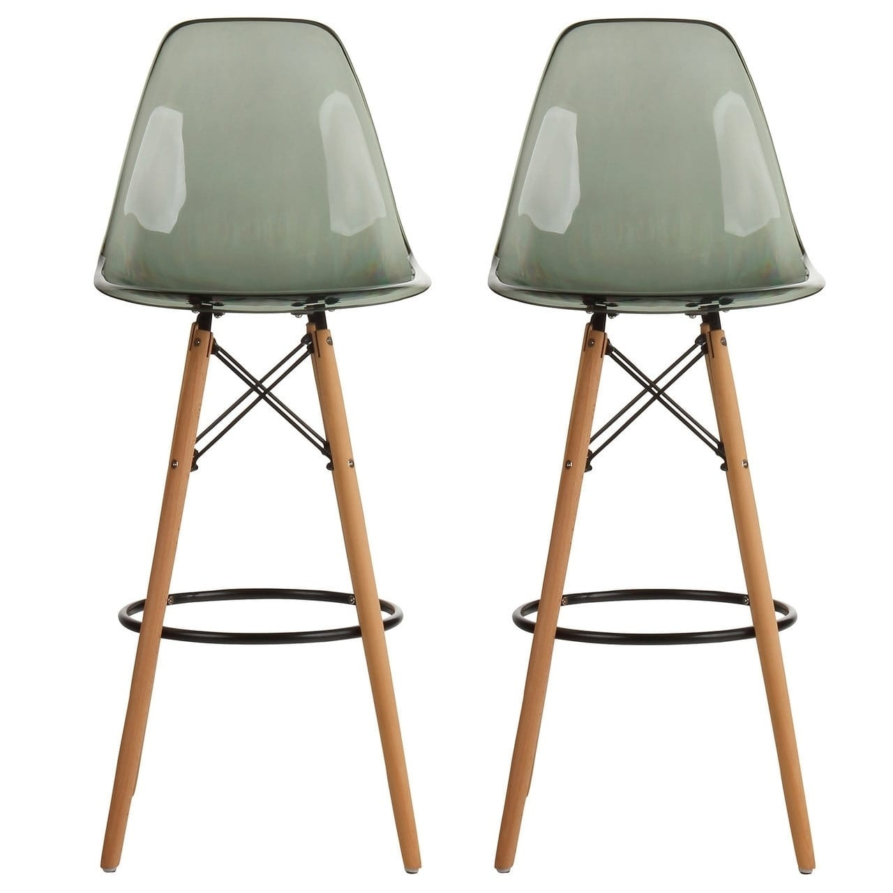PoliVaz Mid-Century Modern Retro 30 In. Bar Stool, Set of 2 by Overstock