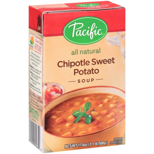 Pacific All Natural Chipotle Sweet Potato Soup, 17.6 oz