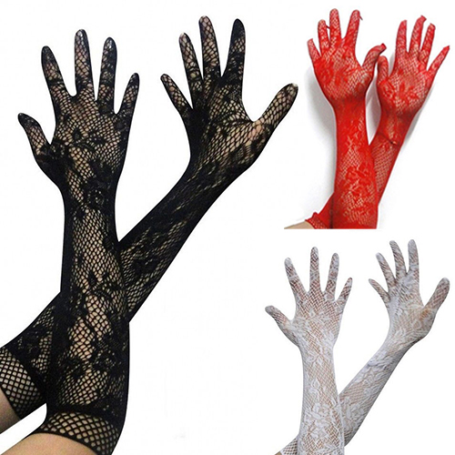 Girl12Queen Women Sexy Stretch Lace Opera Elbow Long Length Evening Party Prom Gloves